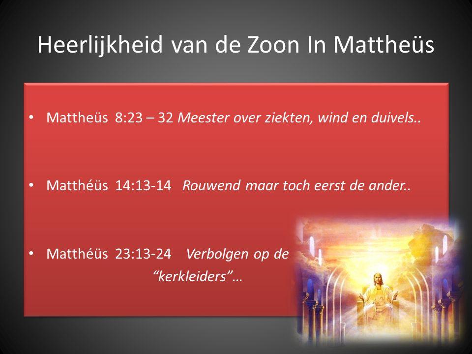 Heerlijkheid van de Zoon In Mattheüs