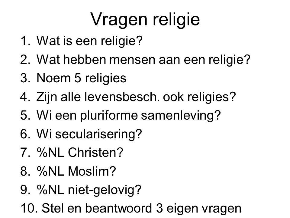 Vragen religie Wat is een religie Wat hebben mensen aan een religie