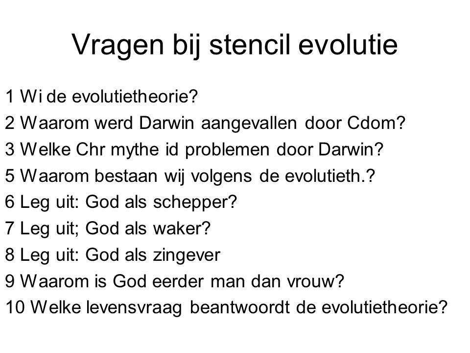 Vragen bij stencil evolutie