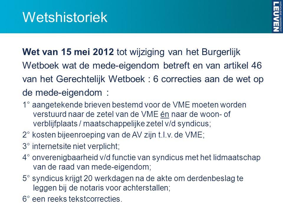 Wetshistoriek Wet van 15 mei 2012 tot wijziging van het Burgerlijk