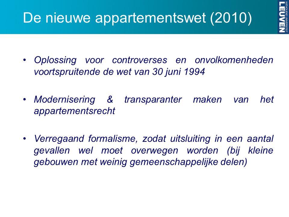 De nieuwe appartementswet (2010)