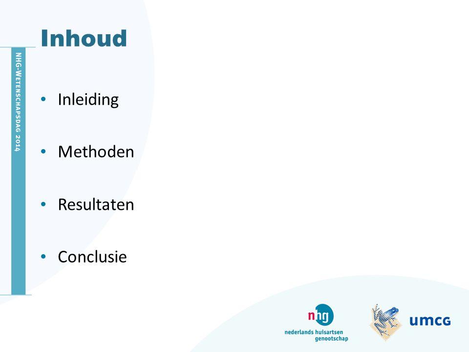 Inhoud Inleiding Methoden Resultaten Conclusie