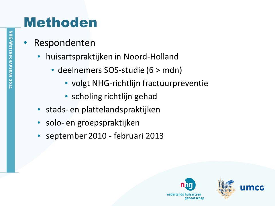 Methoden Respondenten huisartspraktijken in Noord-Holland