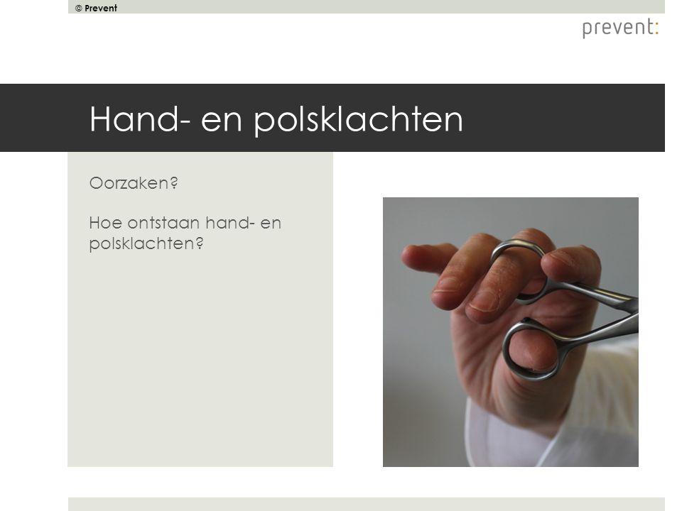 Hand- en polsklachten Oorzaken Hoe ontstaan hand- en polsklachten