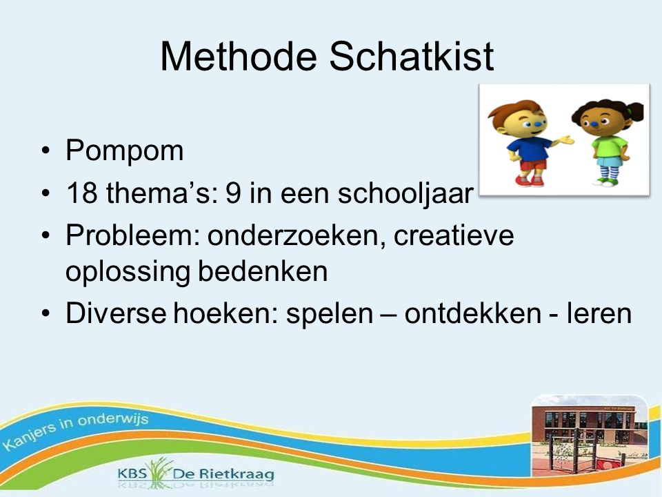 Methode Schatkist Pompom 18 thema's: 9 in een schooljaar