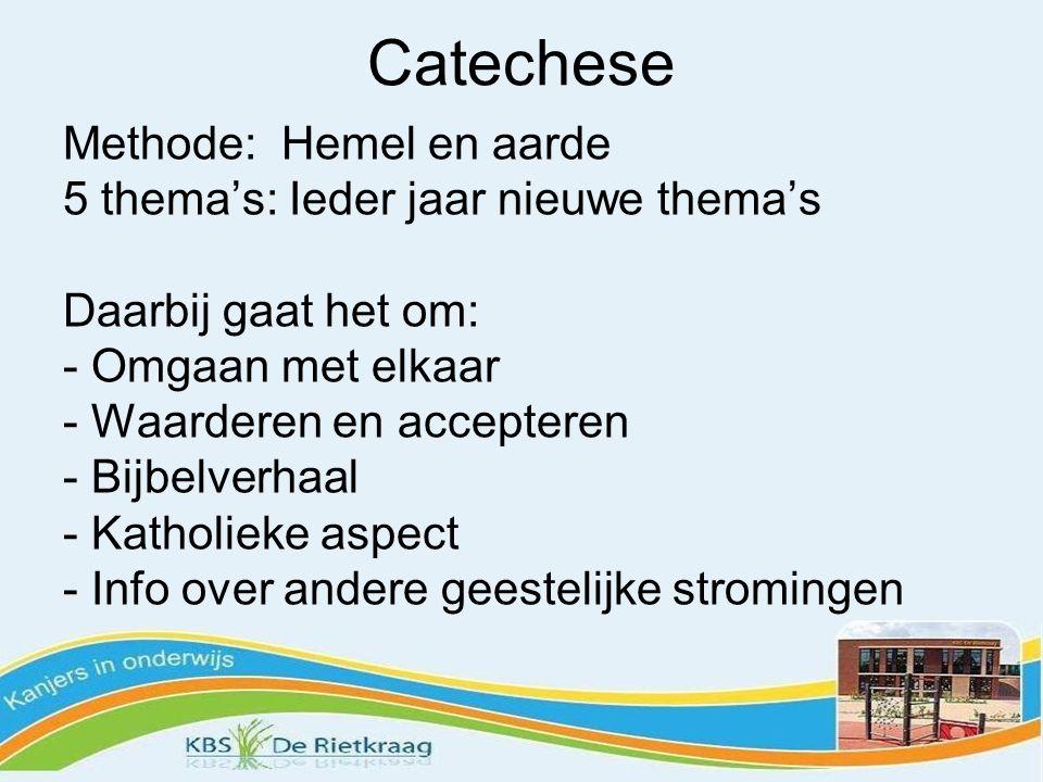 Catechese Methode: Hemel en aarde 5 thema's: Ieder jaar nieuwe thema's