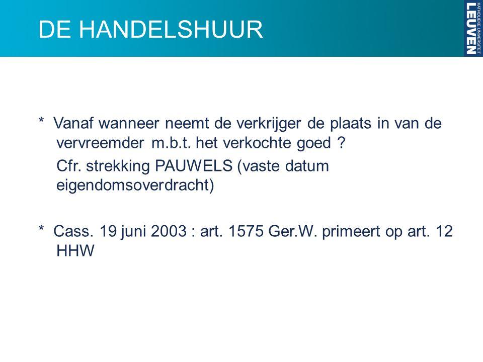 DE HANDELSHUUR