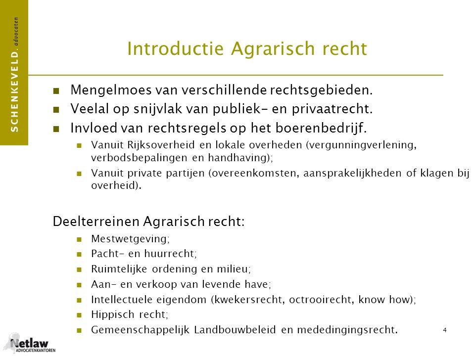 Introductie Agrarisch recht