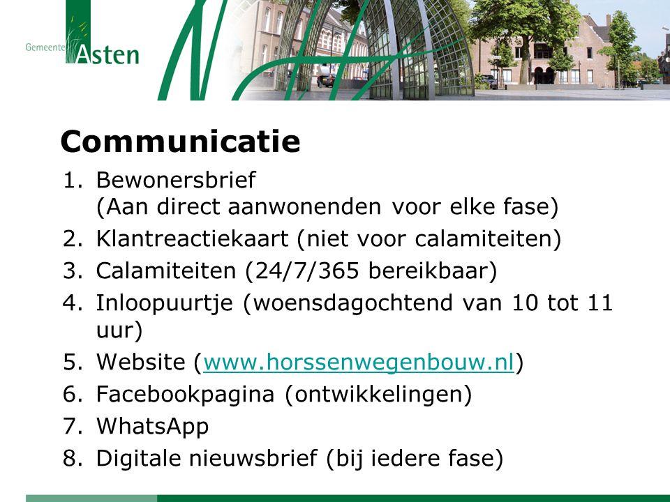 Communicatie Bewonersbrief (Aan direct aanwonenden voor elke fase)