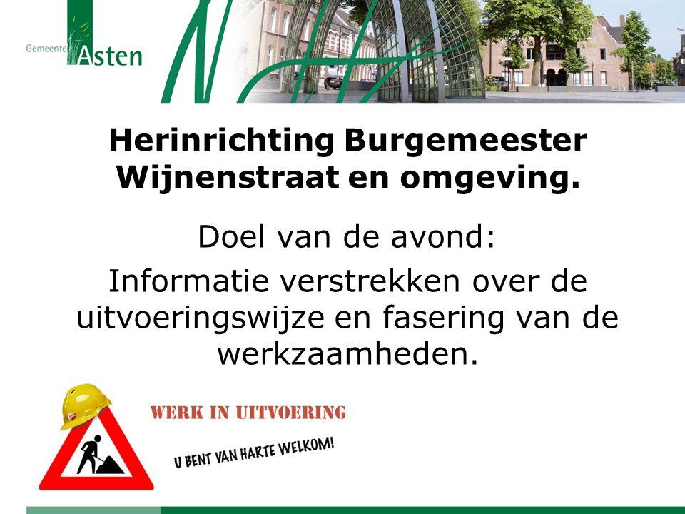 Herinrichting Burgemeester Wijnenstraat en omgeving.