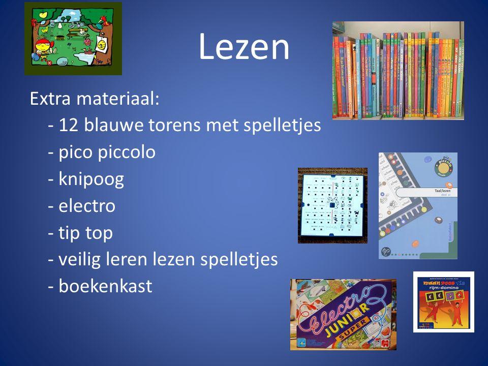 Lezen Extra materiaal: - 12 blauwe torens met spelletjes