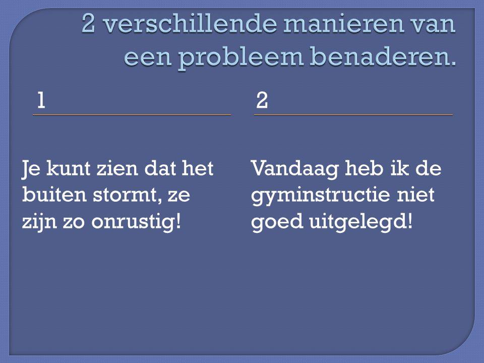 2 verschillende manieren van een probleem benaderen.