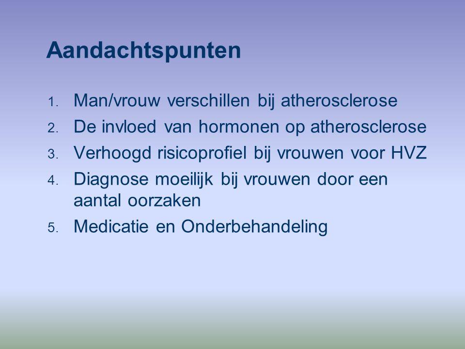 Aandachtspunten Man/vrouw verschillen bij atherosclerose