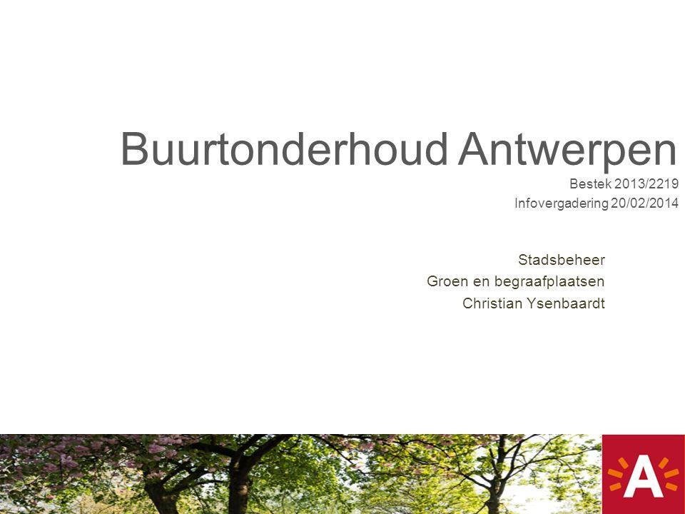 Buurtonderhoud Antwerpen Bestek 2013/2219