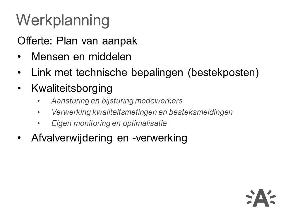 Werkplanning Offerte: Plan van aanpak Mensen en middelen