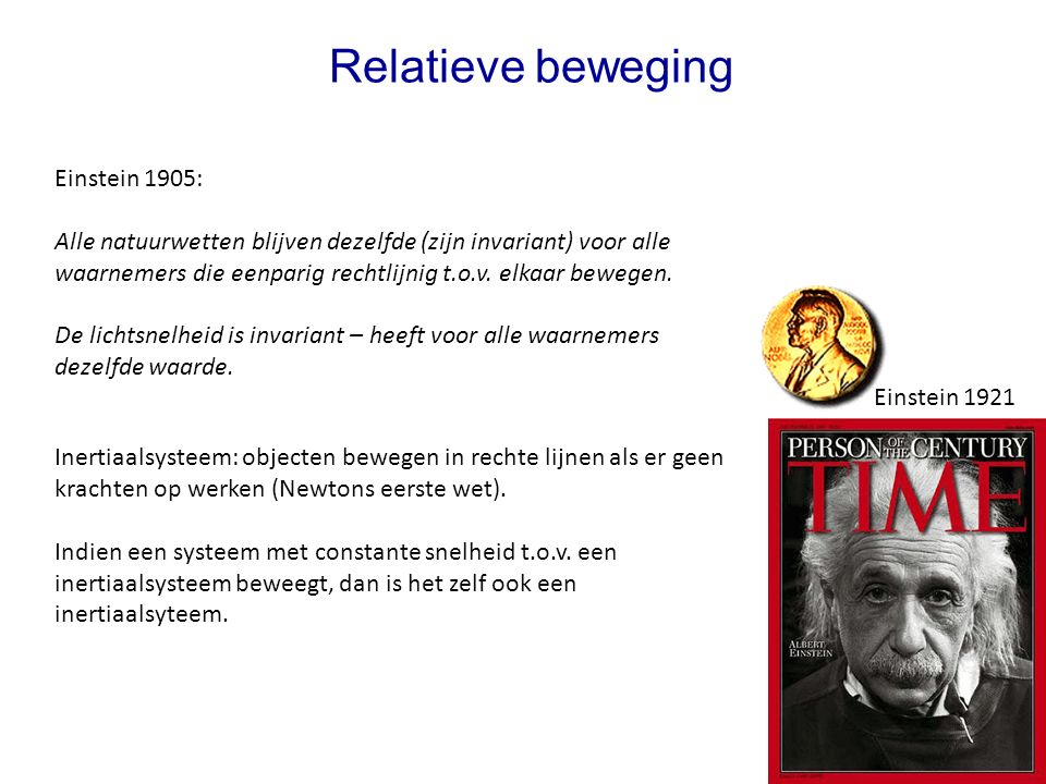 Relatieve beweging Einstein 1905: