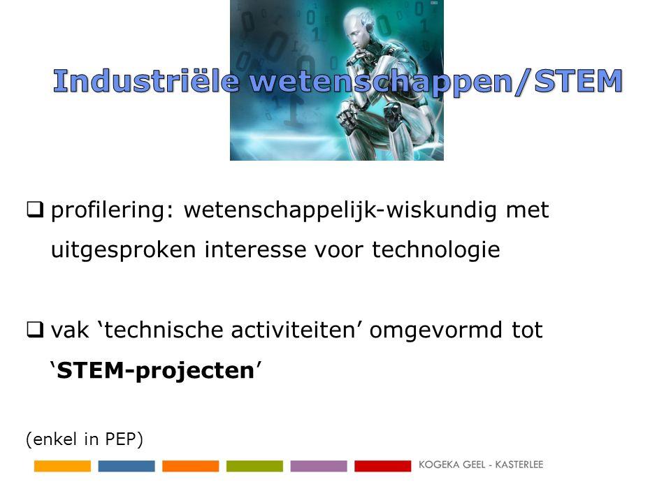 Industriële wetenschappen/STEM
