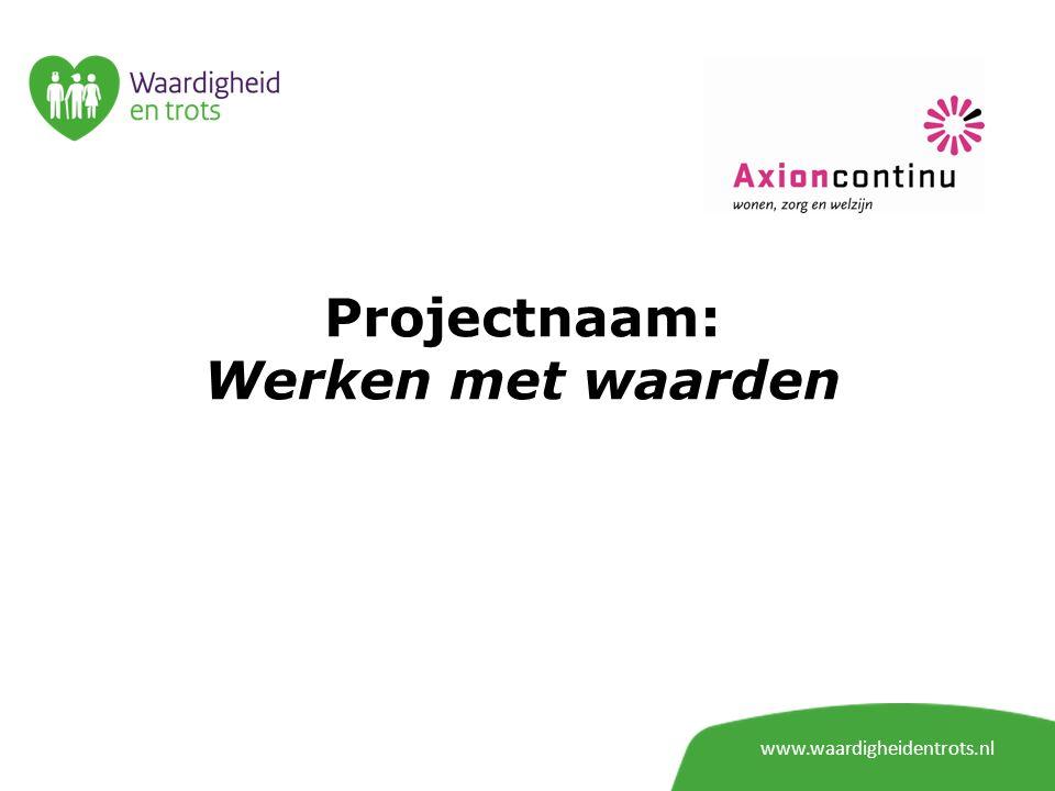 Projectnaam: Werken met waarden