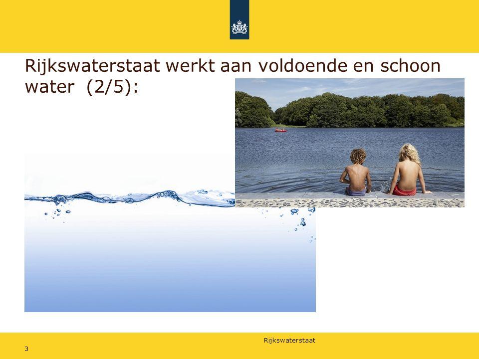 Rijkswaterstaat werkt aan voldoende en schoon water (2/5):