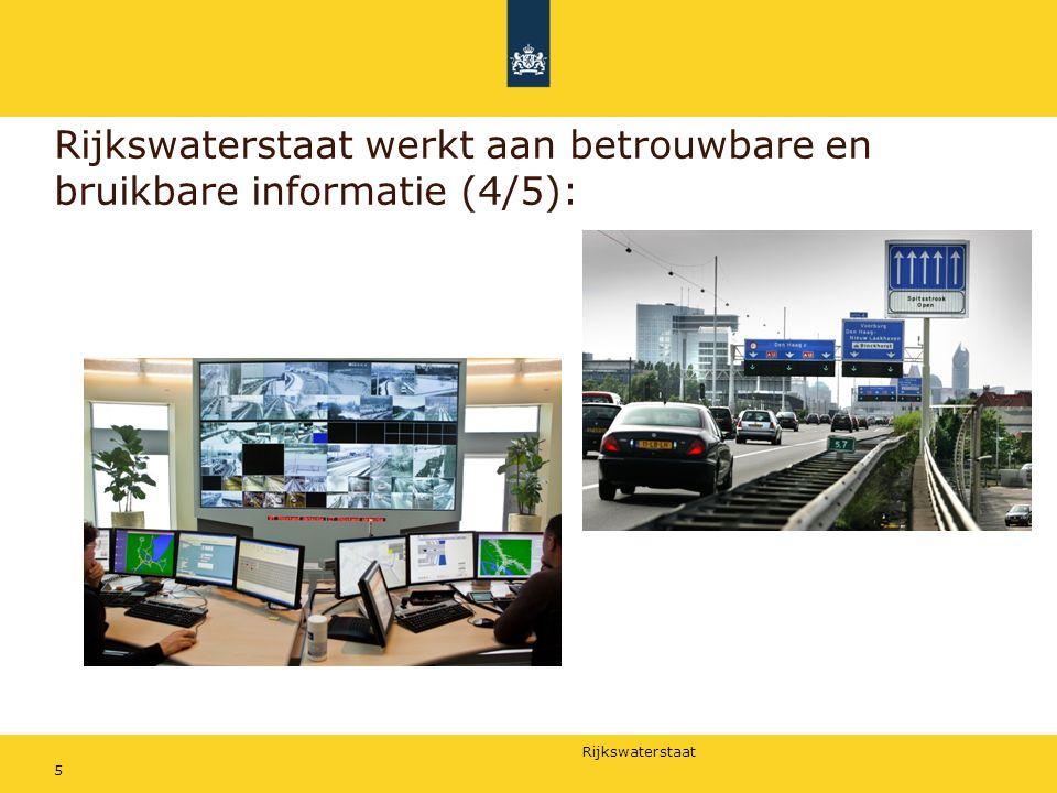Rijkswaterstaat werkt aan betrouwbare en bruikbare informatie (4/5):