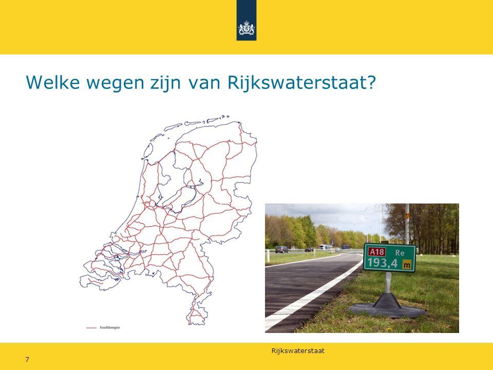 Welke wegen zijn van Rijkswaterstaat