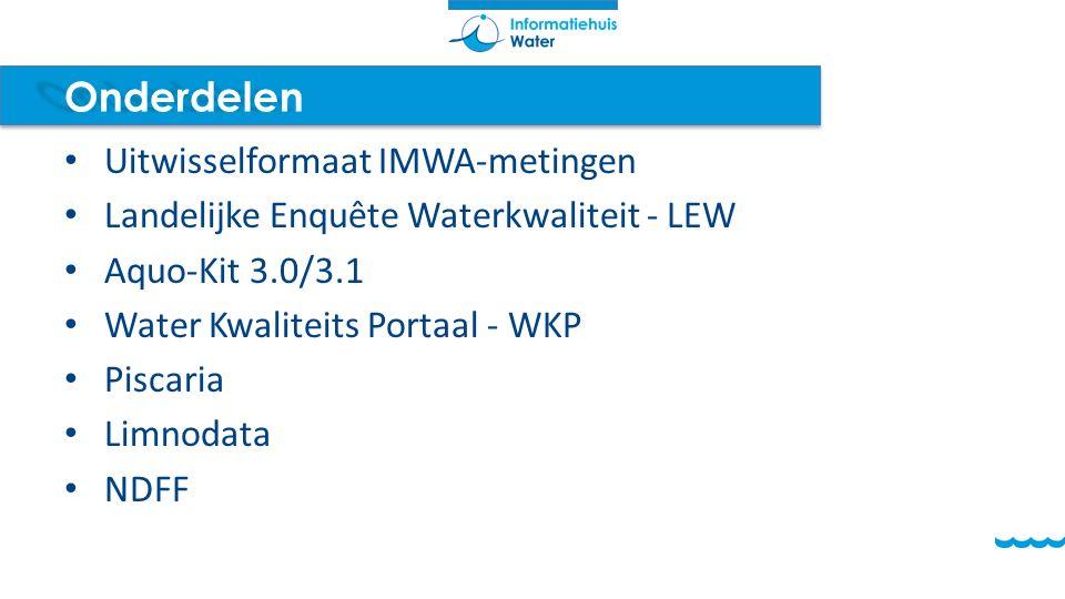 Onderdelen Uitwisselformaat IMWA-metingen