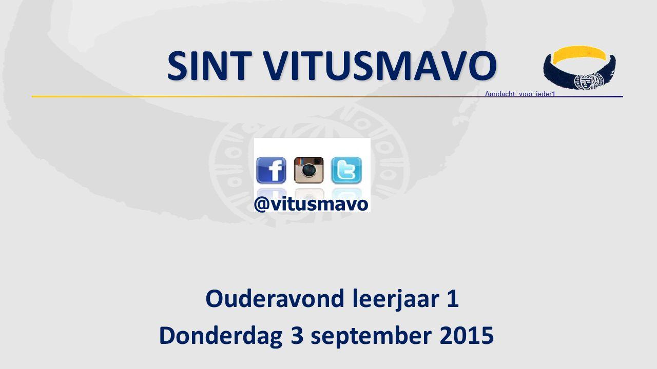 Sint Vitusmavo Ouderavond leerjaar 1 Donderdag 3 september 2015