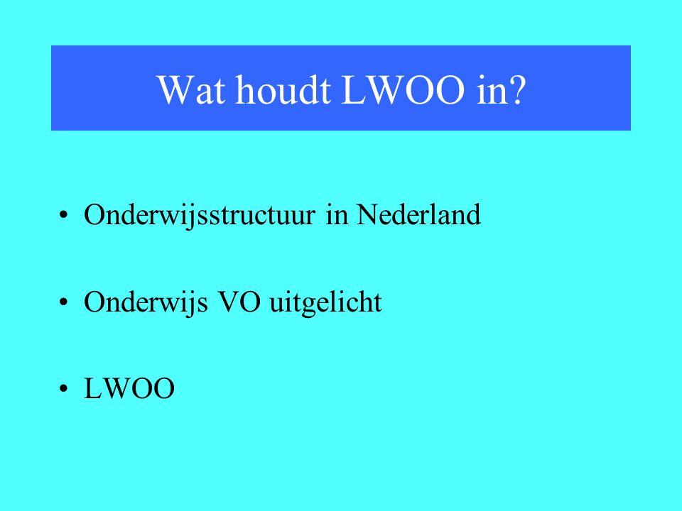 Wat houdt LWOO in Onderwijsstructuur in Nederland