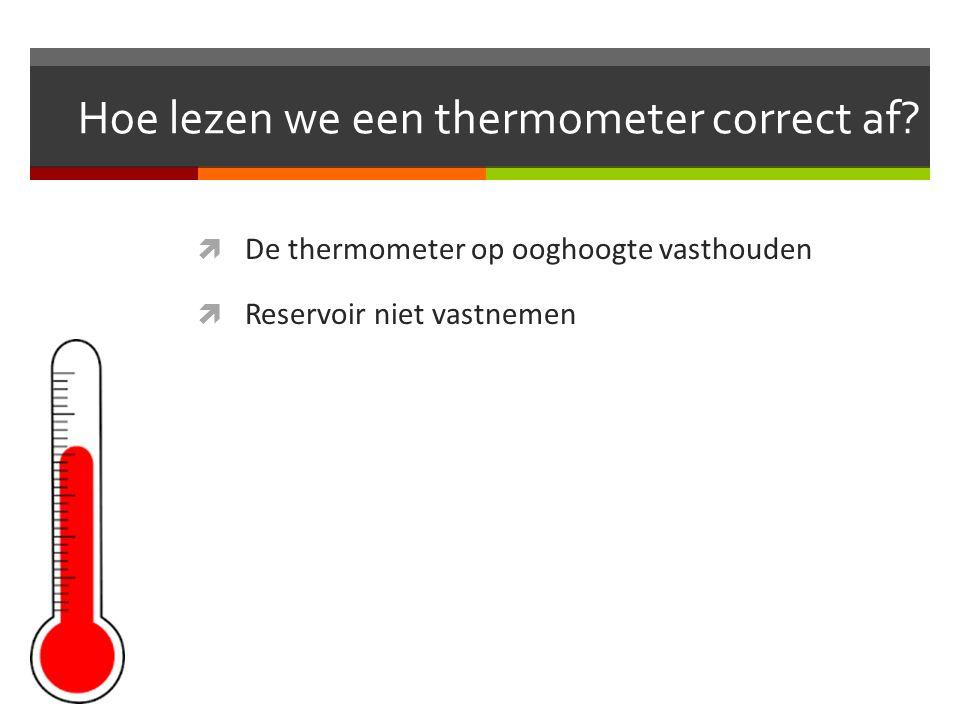 Hoe lezen we een thermometer correct af