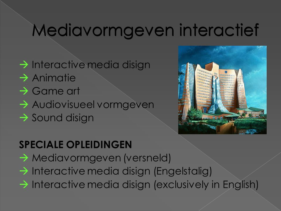Mediavormgeven interactief