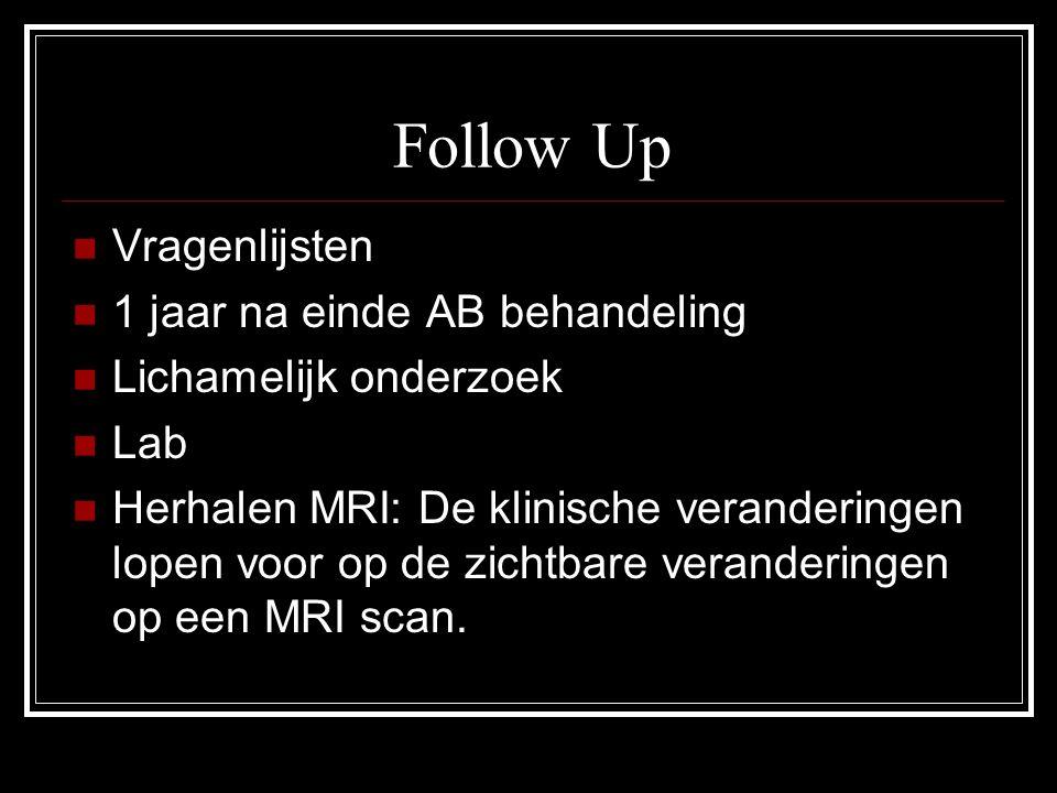 Follow Up Vragenlijsten 1 jaar na einde AB behandeling