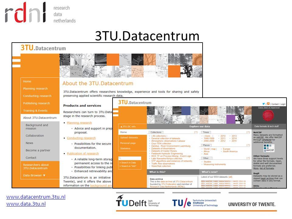3TU.Datacentrum www.datacentrum.3tu.nl www.data.3tu.nl
