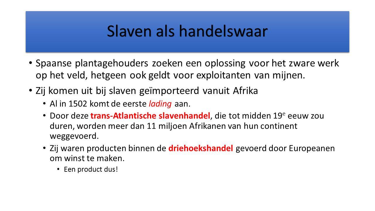 Slaven als handelswaar