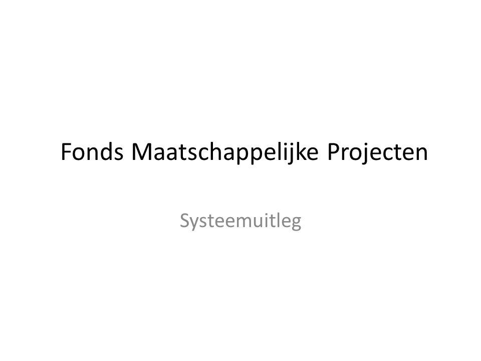 Fonds Maatschappelijke Projecten