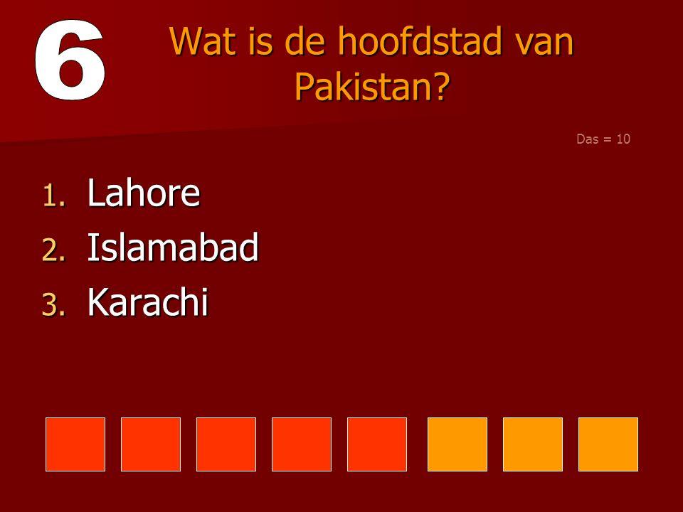 Wat is de hoofdstad van Pakistan