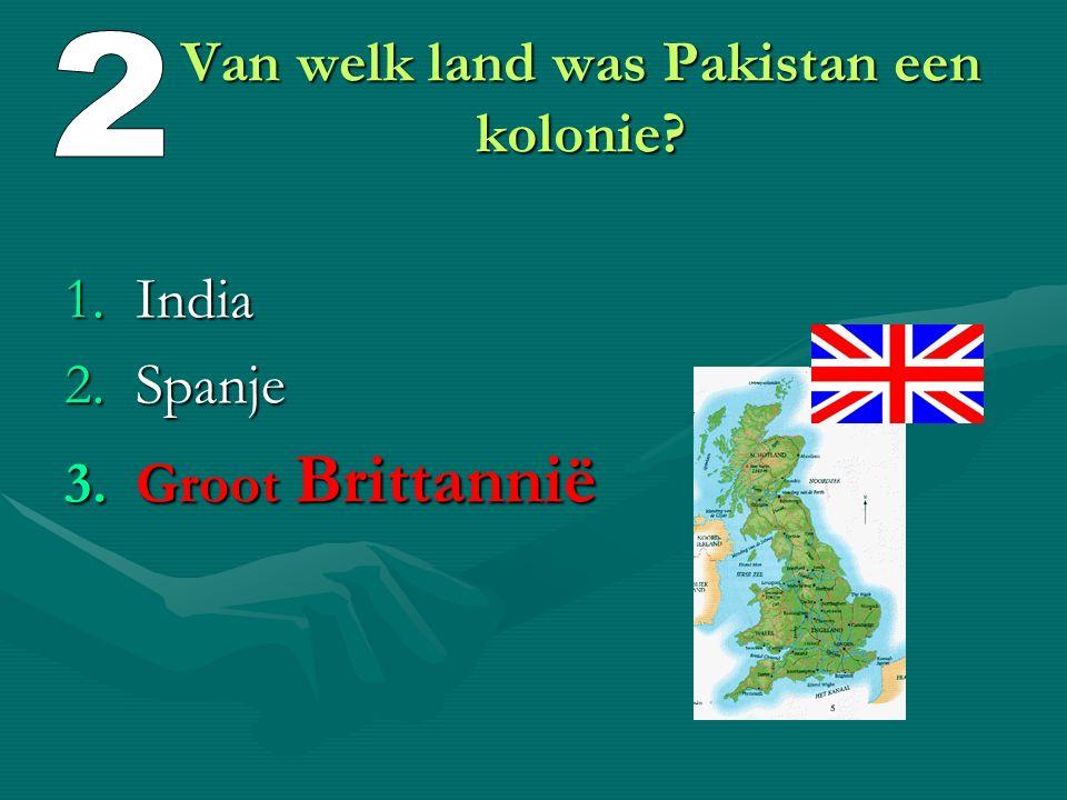 Van welk land was Pakistan een kolonie