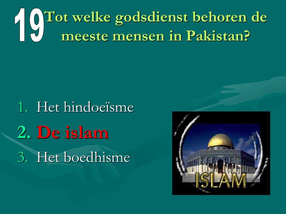 Tot welke godsdienst behoren de meeste mensen in Pakistan