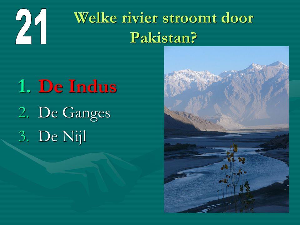 Welke rivier stroomt door Pakistan