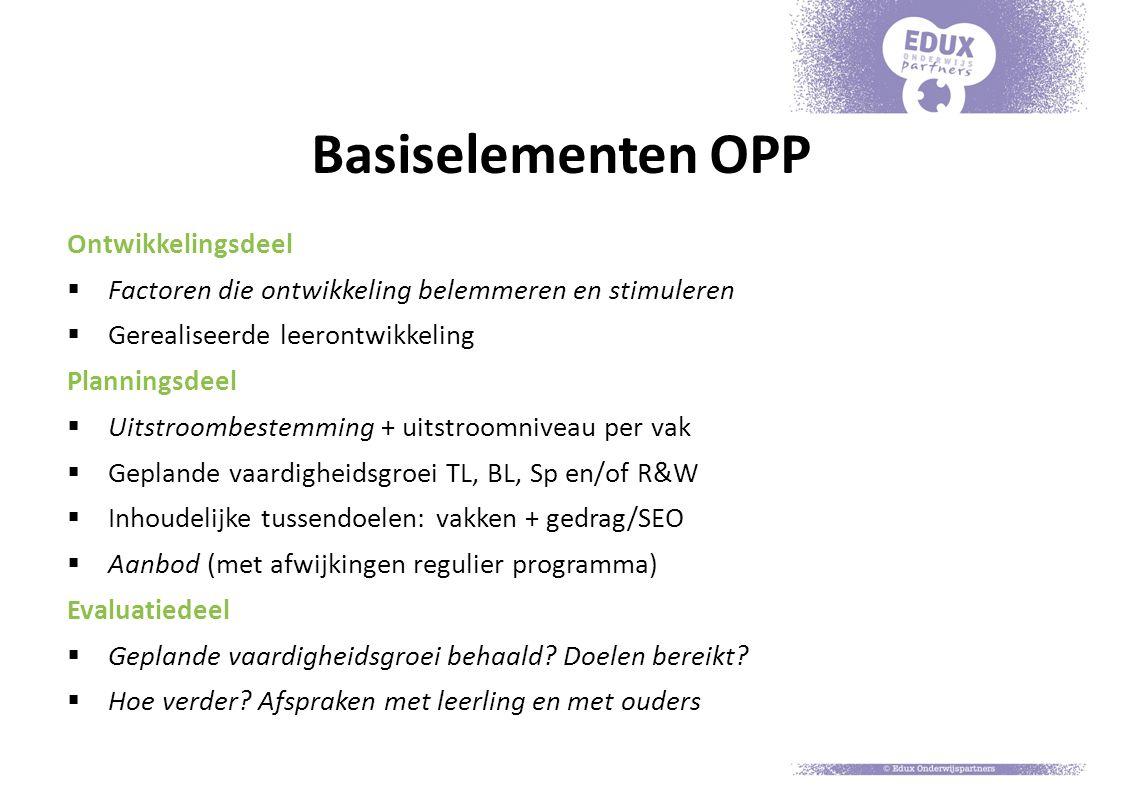 Basiselementen OPP Ontwikkelingsdeel