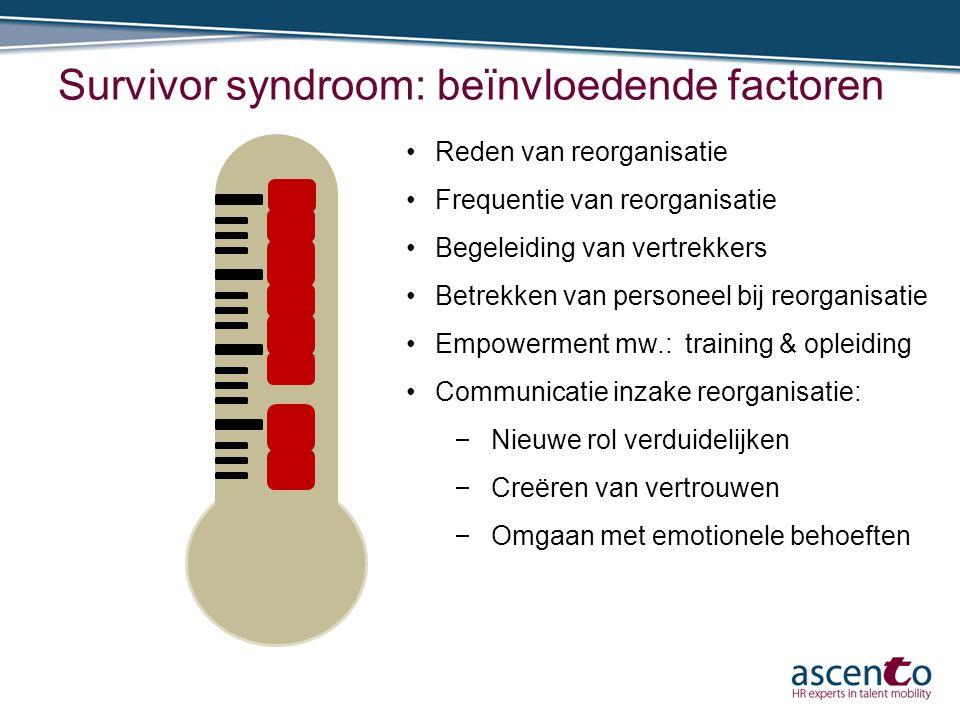 Survivor syndroom: beïnvloedende factoren