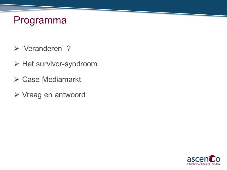 Programma 'Veranderen' Het survivor-syndroom Case Mediamarkt