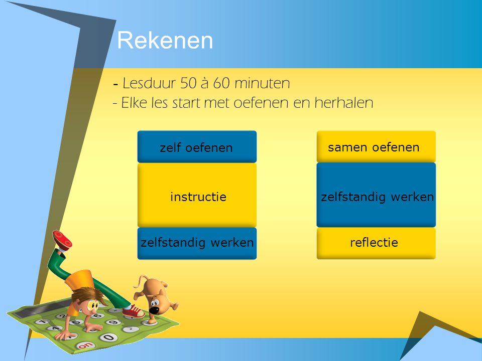 Rekenen - Lesduur 50 à 60 minuten