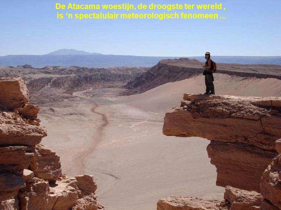 De Atacama woestijn, de droogste ter wereld ,