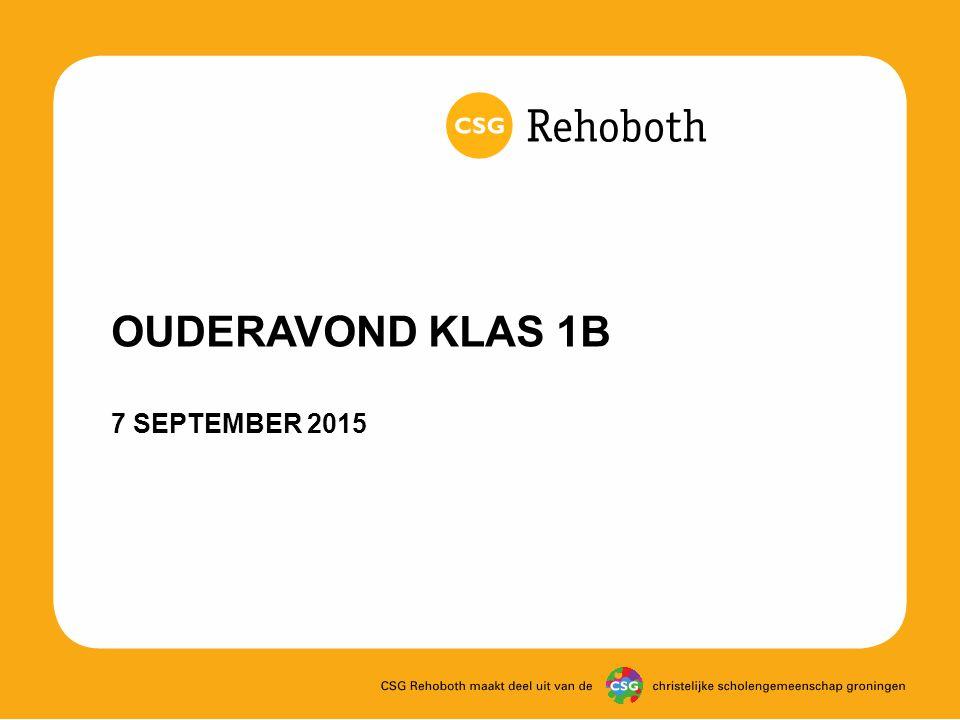 OUDERAVOND KLAS 1B 7 SEPTEMBER 2015