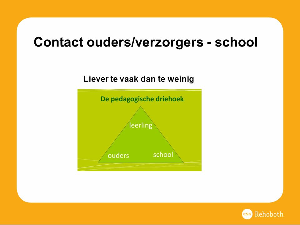 Contact ouders/verzorgers - school