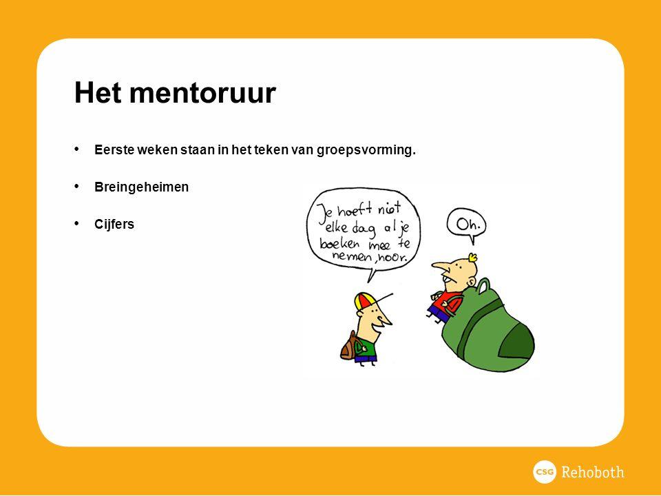 Het mentoruur Eerste weken staan in het teken van groepsvorming.