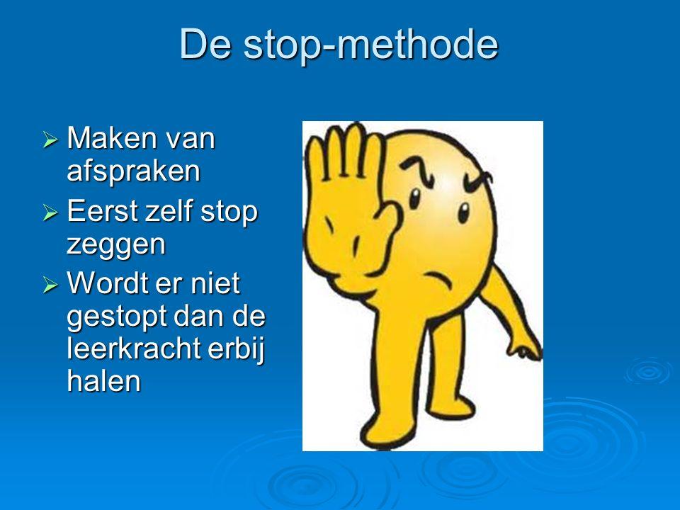 De stop-methode Maken van afspraken Eerst zelf stop zeggen