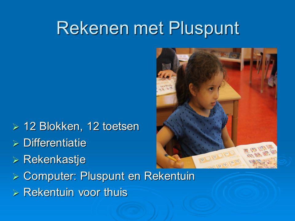 Rekenen met Pluspunt 12 Blokken, 12 toetsen Differentiatie Rekenkastje