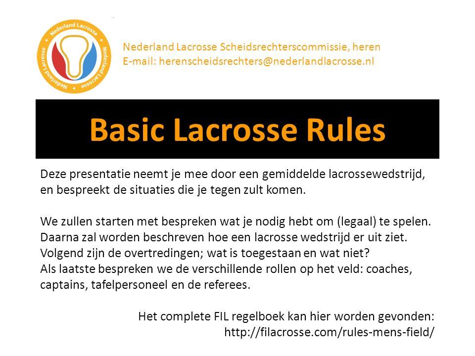 Nederland Lacrosse Scheidsrechterscommissie, heren