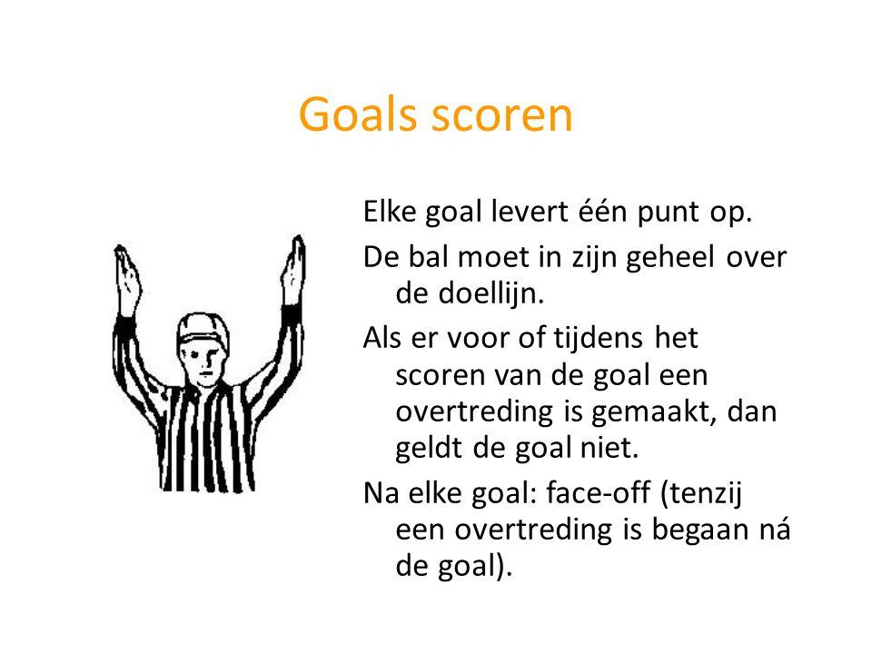 Goals scoren Elke goal levert één punt op.